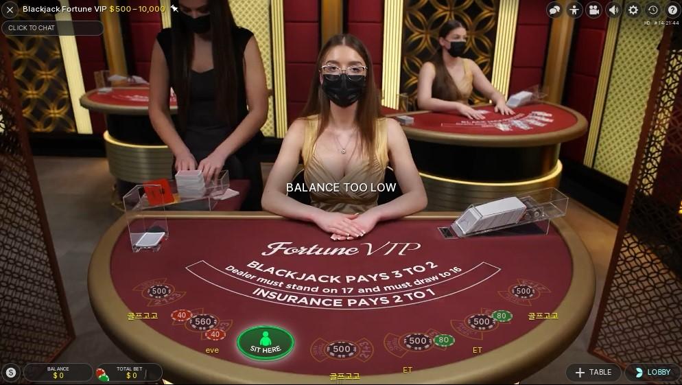 Fun Casino Live Blackjack