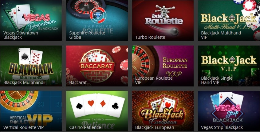 Hopa Casino Automated Casino Table Games