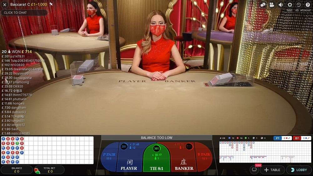Hopa Casino Live Baccarat