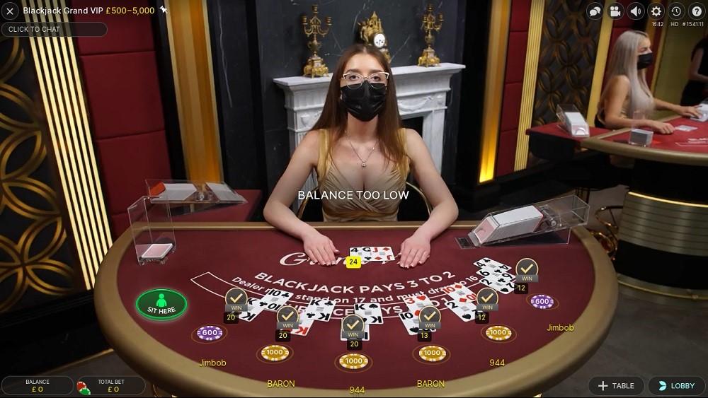 Hopa Casino Live Blackjack