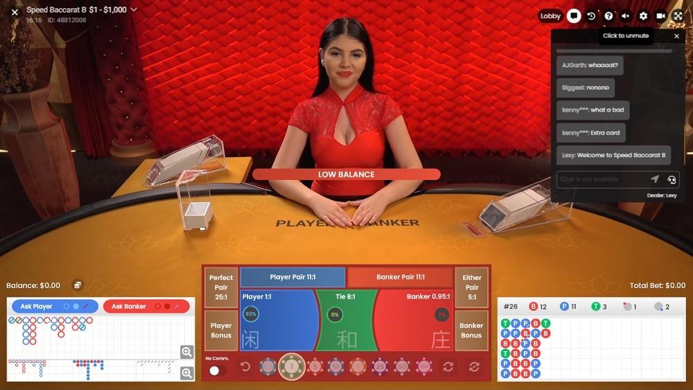 Hyper Casino Live Baccarat