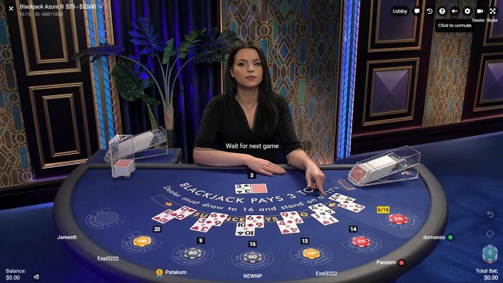 Hyper Casino Live Blackjack