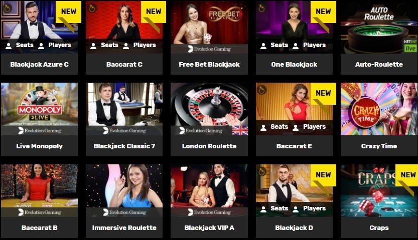 Hyper Casino Live Casino Games