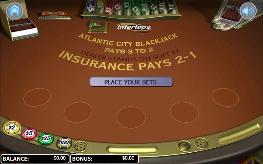 Intertops Casino Automated Blackjack