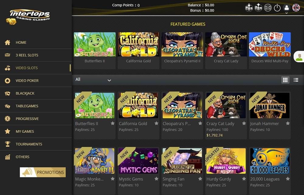 Intertops Casino Members Area