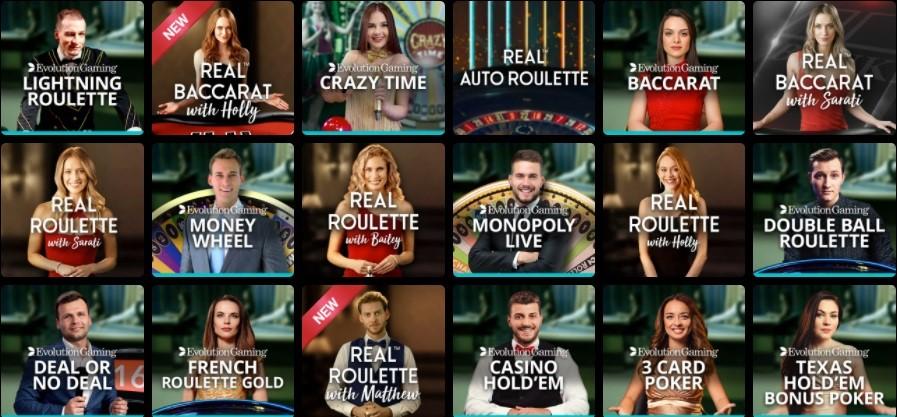 Lucky Nugget Casino Live Casino Games