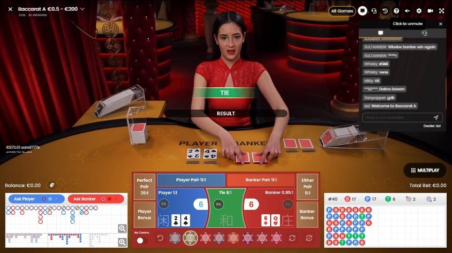 Maneki Casino Live Baccarat