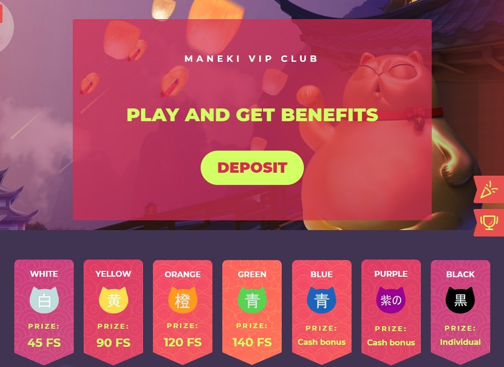 Maneki Casino Rewards Program