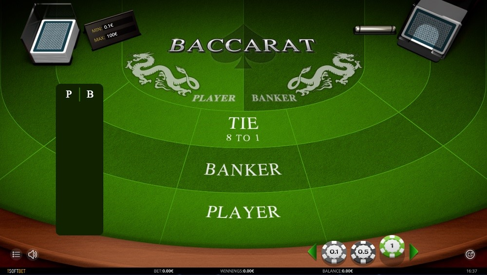 Rembrandt Casino Automated Baccarat
