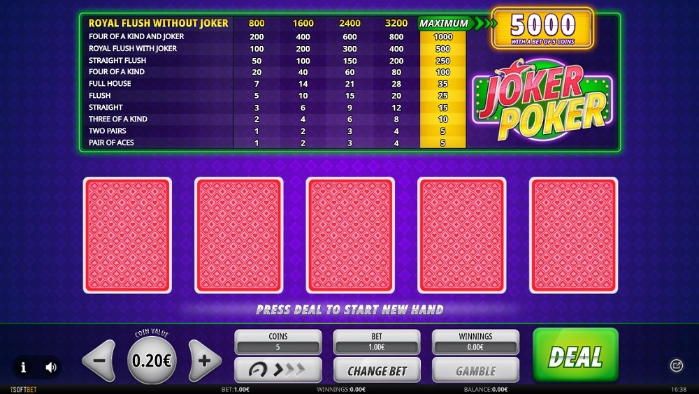 Rembrandt Casino Automated Poker