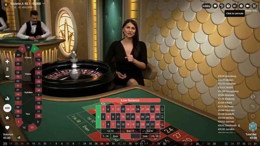 Rembrandt Casino Live Roulette