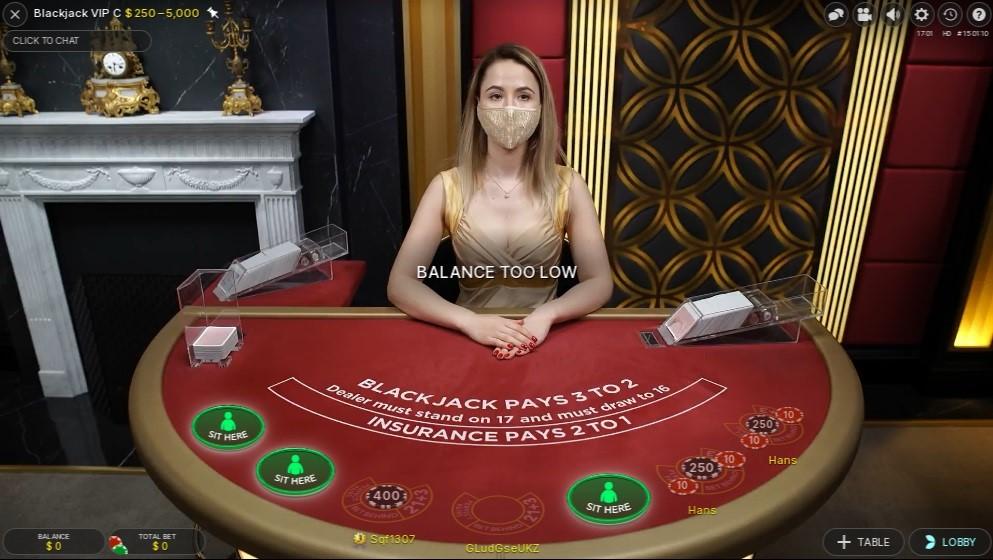 River Belle Casino Live Blackjack
