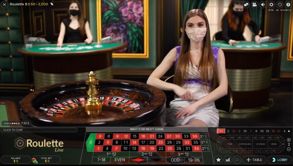 River Belle Casino Live Roulette