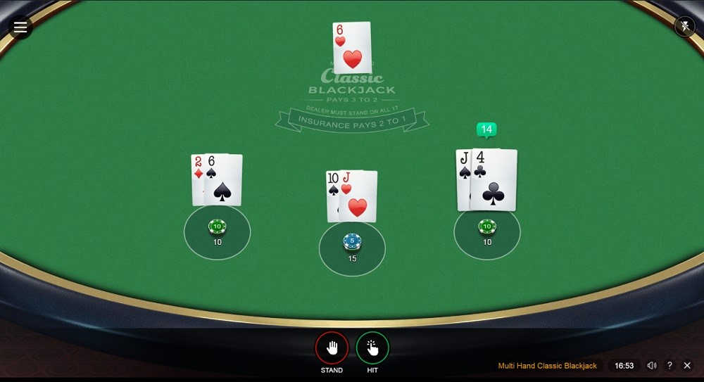 Ruby Fortune Casino Automated Blackjack