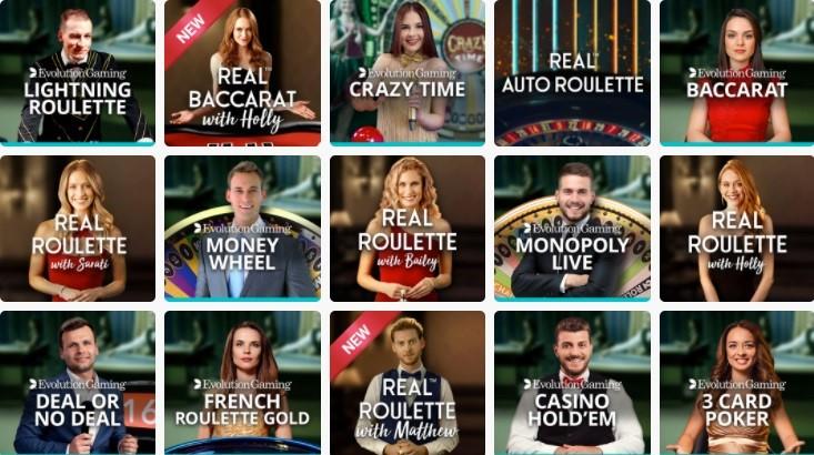 Ruby Fortune Casino Live Casino Games