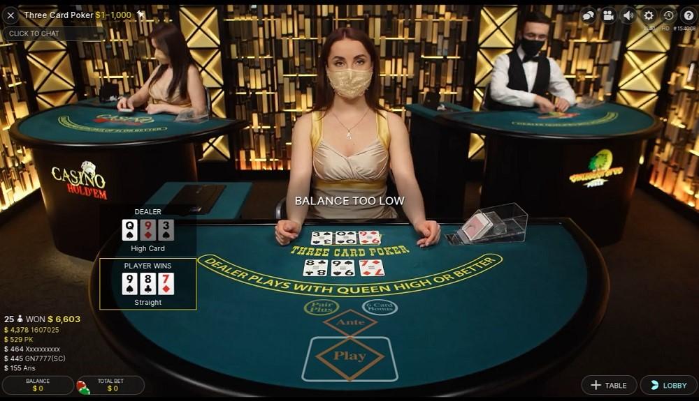 Ruby Fortune Casino Live Poker