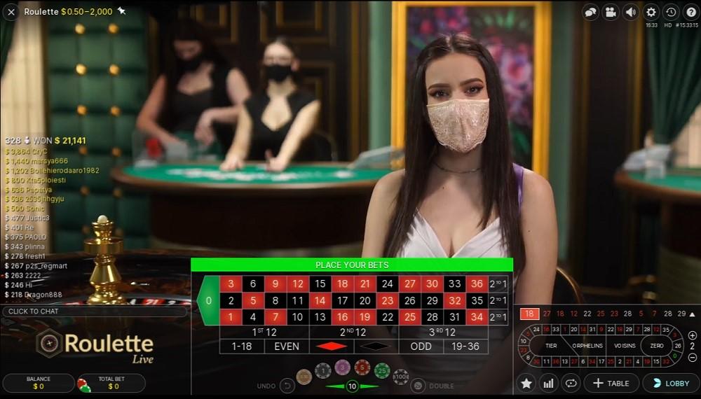 Ruby Fortune Casino Live Roulette