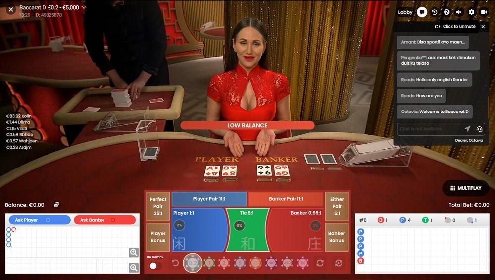 Simple Casino Live Baccarat