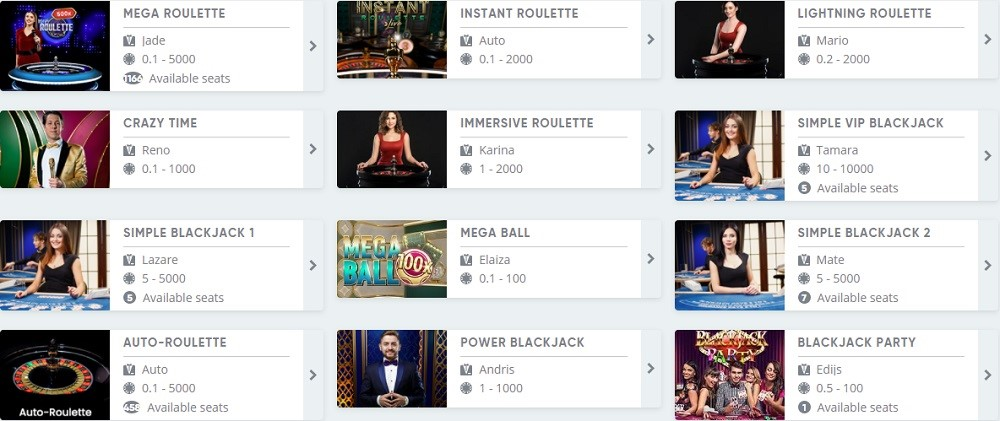 Simple Casino Review Live Casino Games