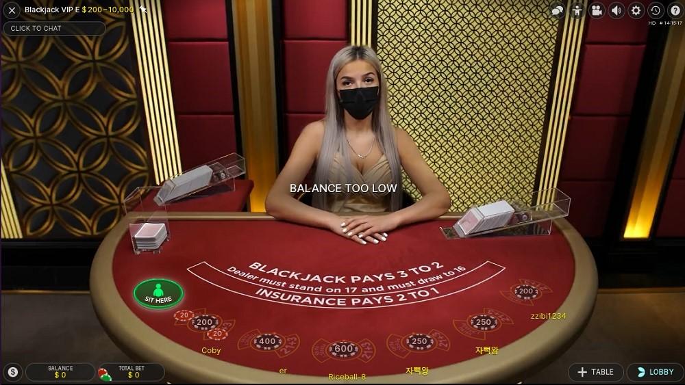 Syndicate Casino Live Blackjack