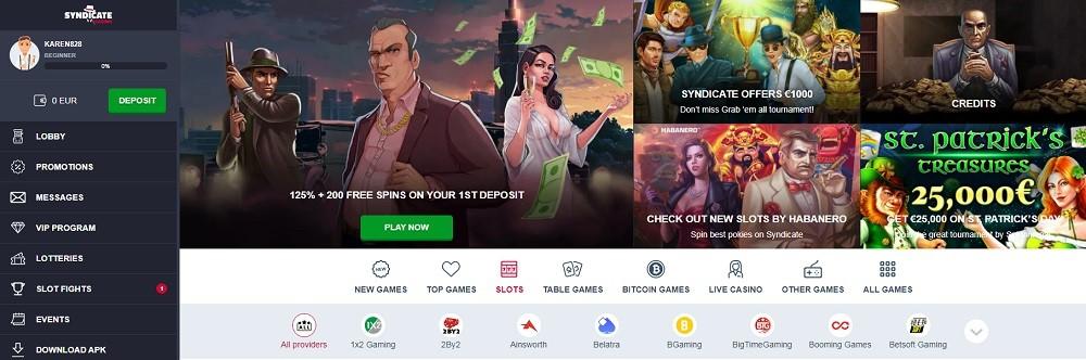 Syndicate Casino Members Area