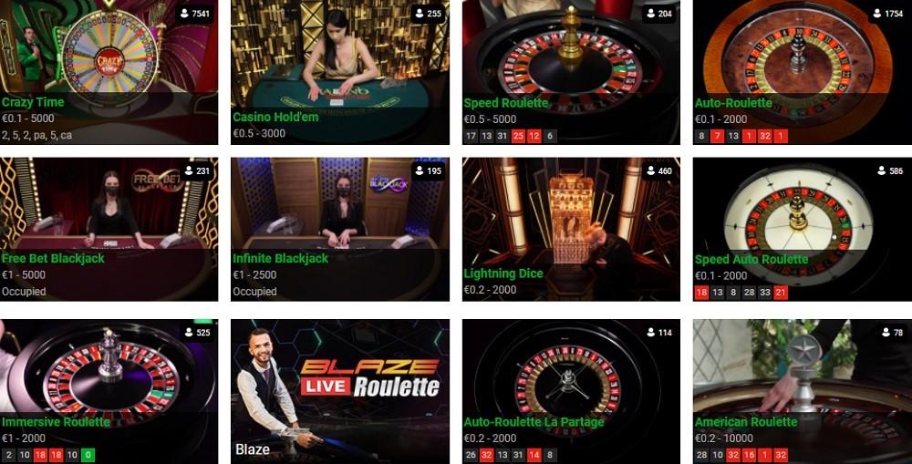 TradaCasino Live Casino Games