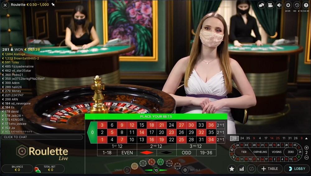 TradaCasino Live Roulette