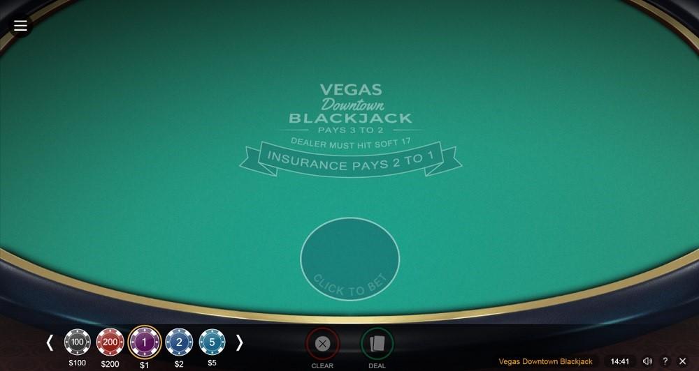 Vegas Rush Casino Automated Blackjack