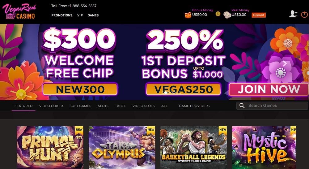 Vegas Rush Casino Members Area
