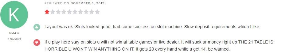 Vegas Rush Casino Player Review