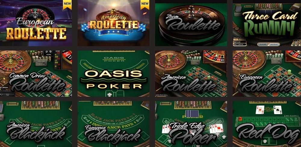 Vegas Rush Casino Table Games