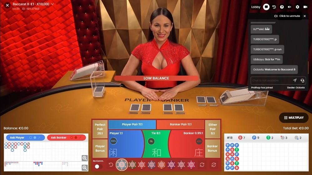 White Lion Casino Live Baccarat