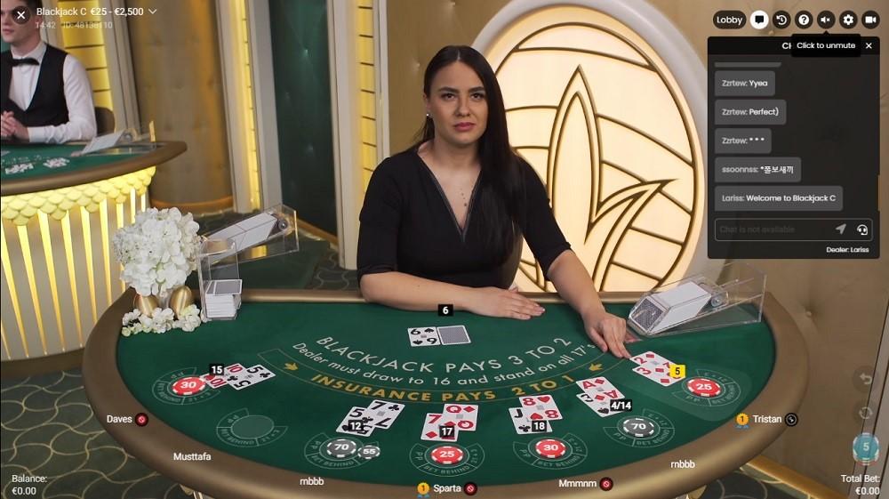 White Lion Casino Live Blackjack