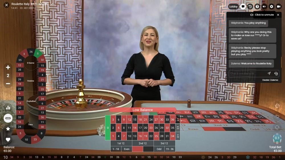 White Lion Casino Live Roulette
