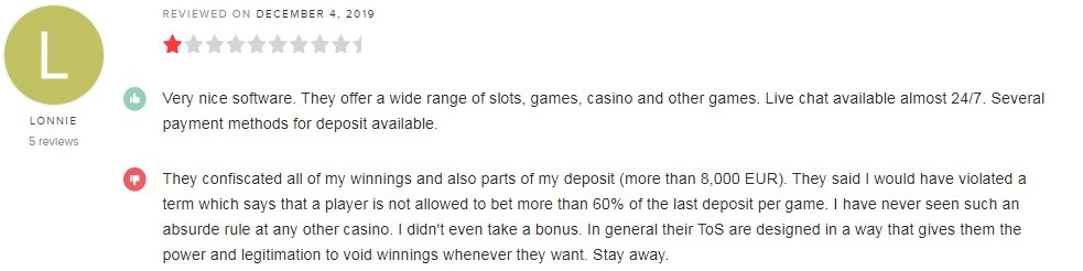 White Lion Casino Player Review 3