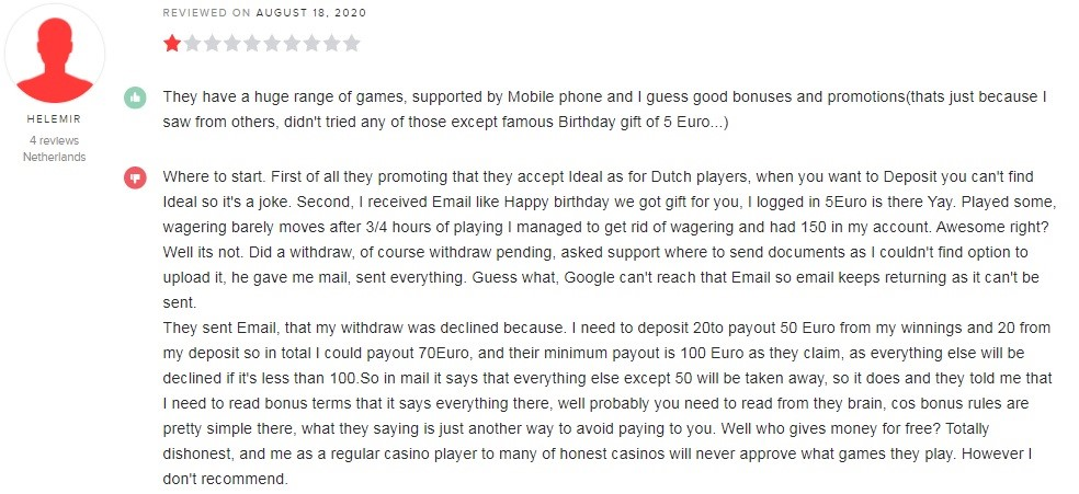 White Lion Casino Player Review