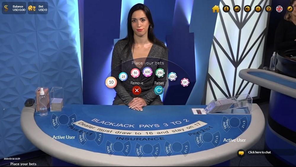 Wild Casino Live Blackjack