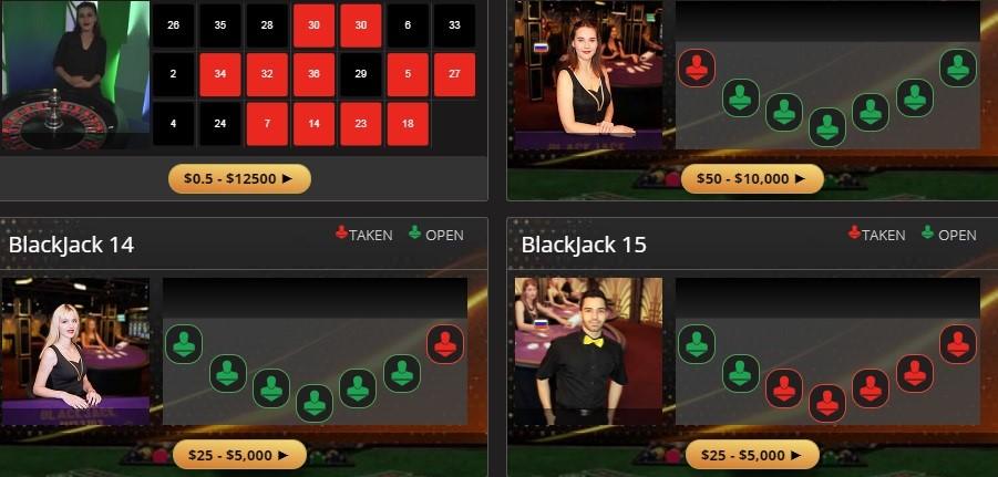 Wild Casino Live Casino Games