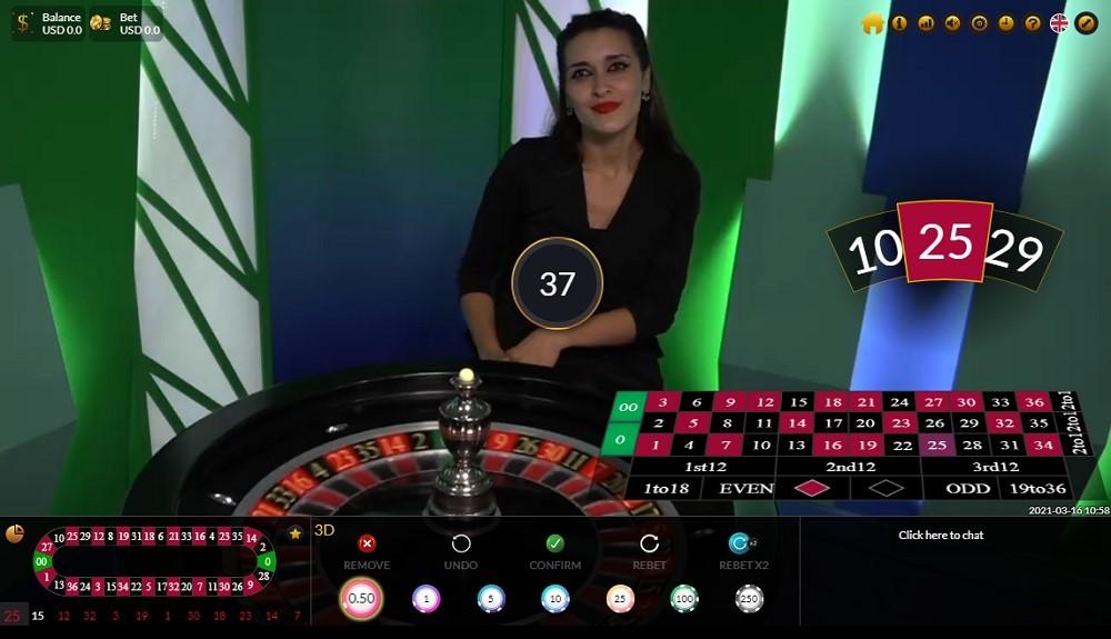 Wild Casino Live Roulette