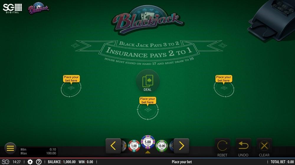 Yeti Casino Automated Blackjack