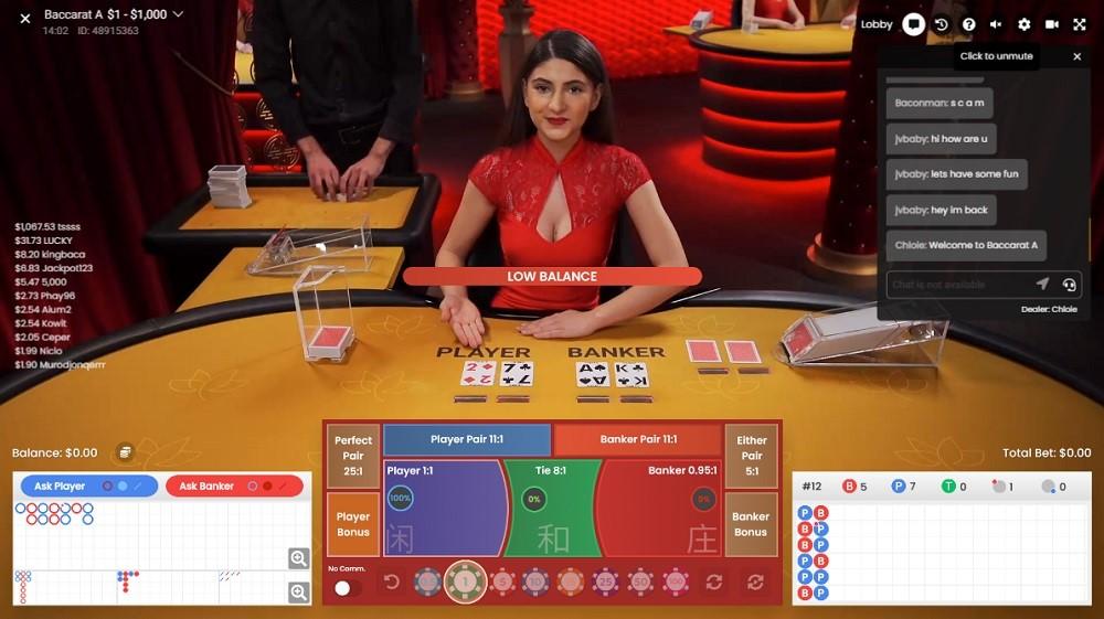 Yeti Casino Live Baccarat