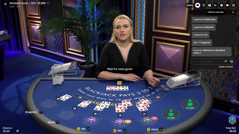 Yeti Casino Live Blackjack