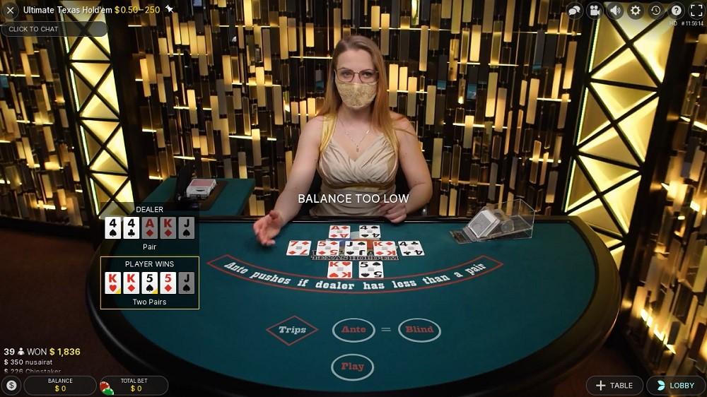 Yeti Casino Live Poker