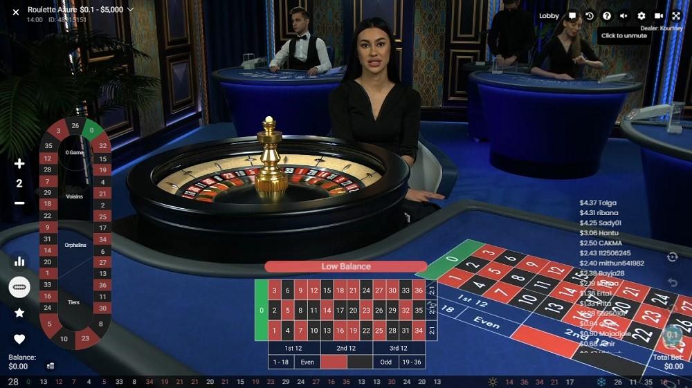 Yeti Casino Live Roulette