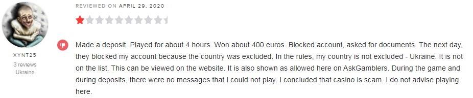 Yeti Casino Player Review 2