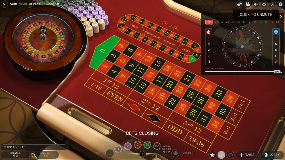 bCasino Automated Roulette