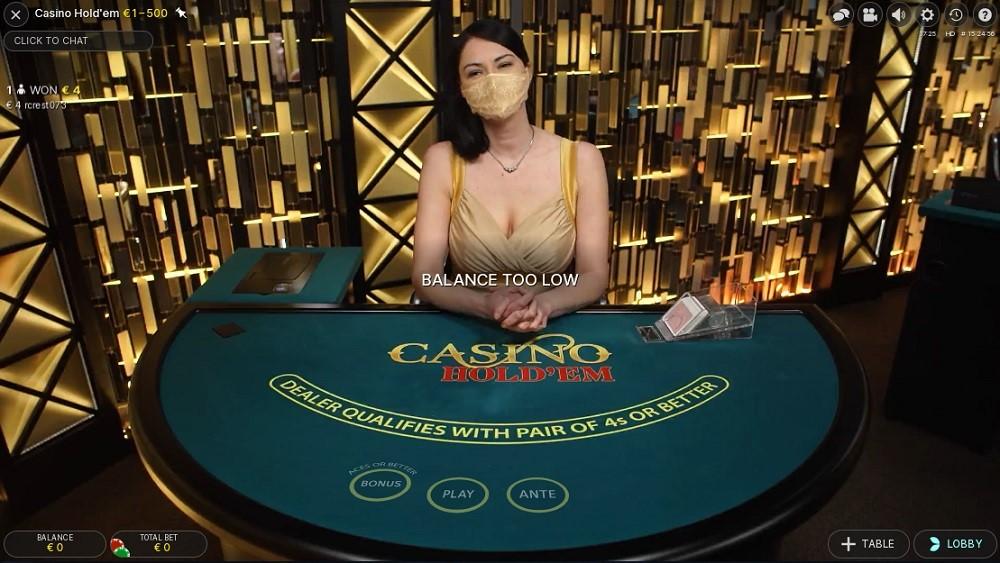 bCasino Live Poker