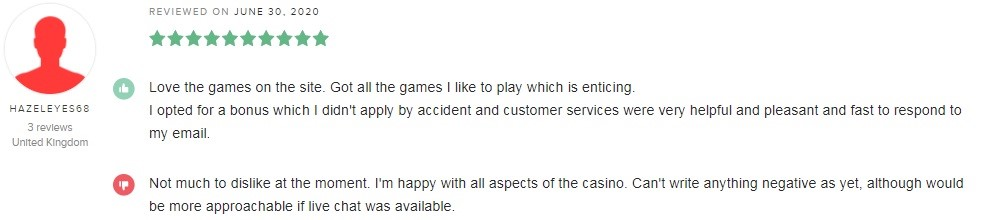 bCasino Player Review 3