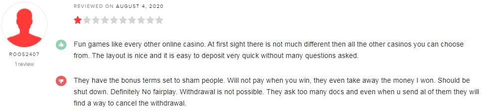 bCasino Player Review