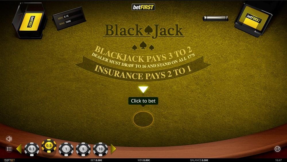 Betfirst Casino Automated Blackjack